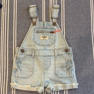 OshKosh B'Gosh Baby Denim Shortalls Overalls 18M